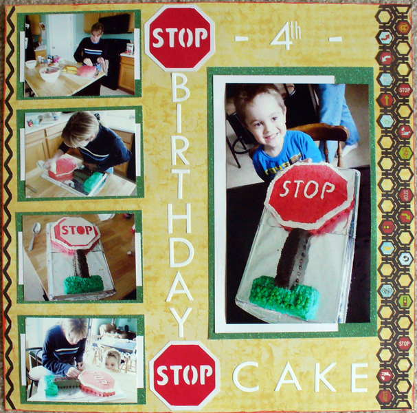Stop Sign Cake