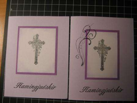 Confirmation cards