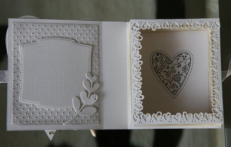 Wedding book card - inside