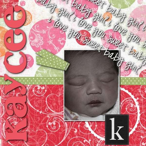 My newest niece, Kaycee Peters