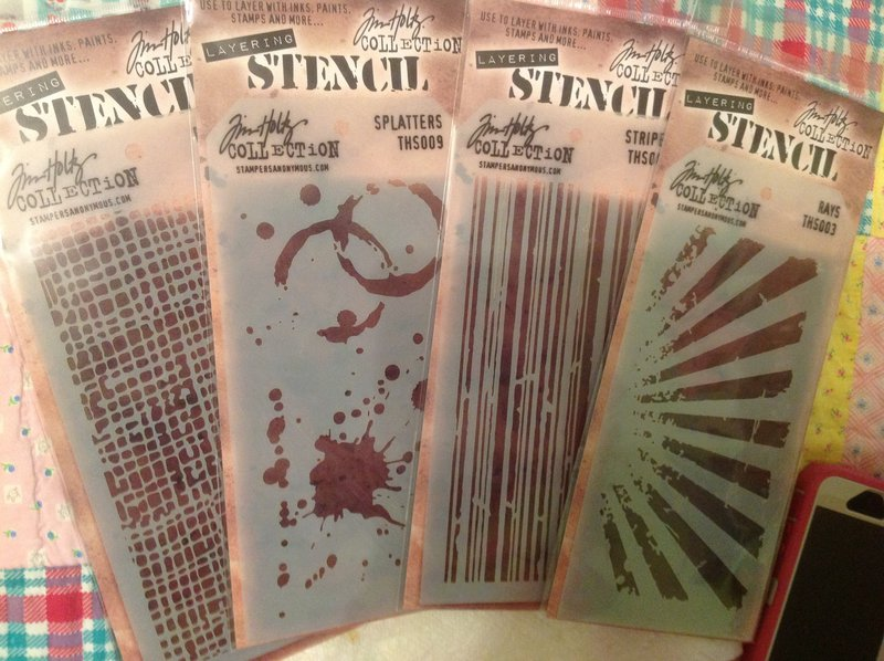 New Tim Holtz stencils