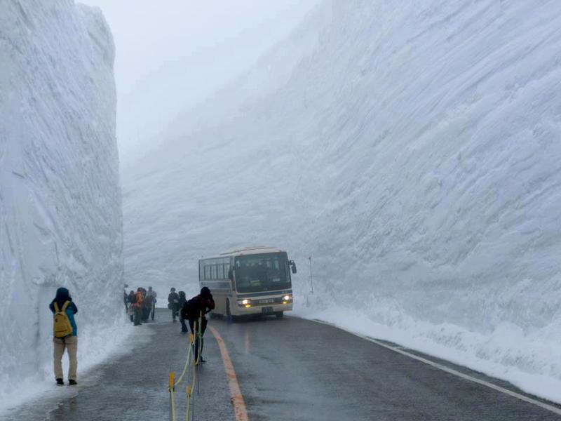 20 meters of snowfall in Hokkaido Japan
