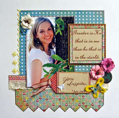Greater is He...My Scrapbook Nook's July Kit...
