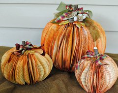 Book Paper Pumpkins...with Video Tutorial