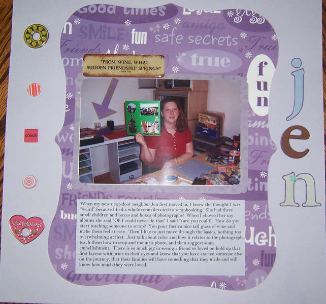 "Jen ""Teach A Friend to Scrapbook Contest"""