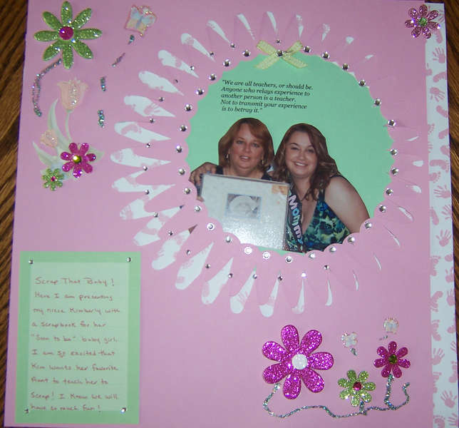 "Scrap That Baby ""Teach A Friend To Scrapbook Contest"""
