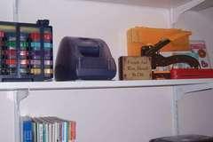 New Shelves in Scrapbook Room