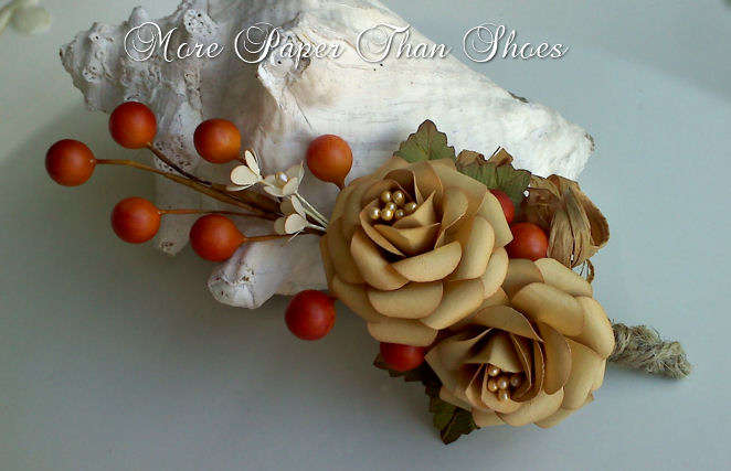 Handmade Flower Spray - Fall Splendor