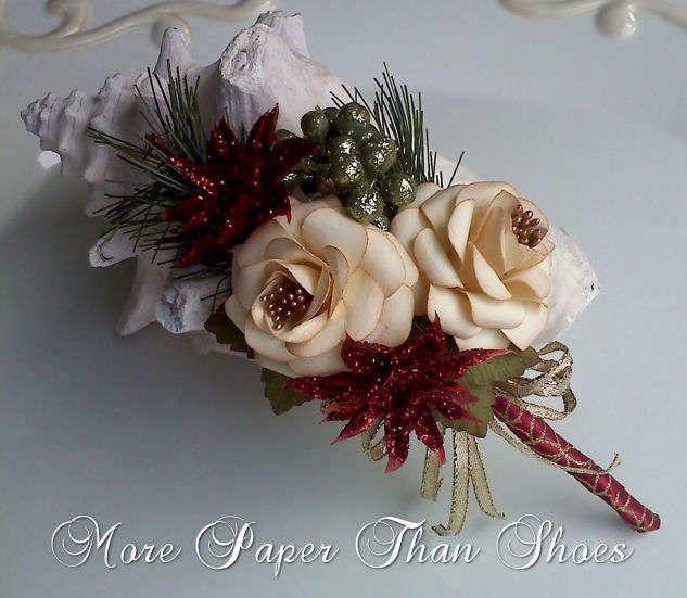 Handmade Flower Spray - Holiday
