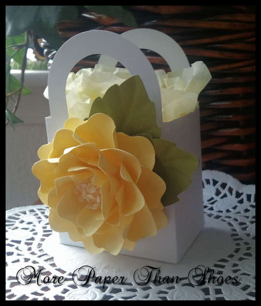 Party Favor - Yellow Handmade Paper Flowers