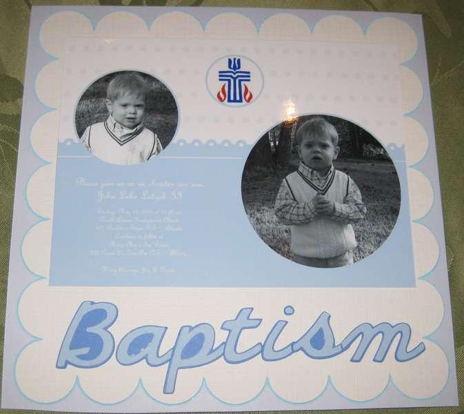 Luke's Baptism Invitation