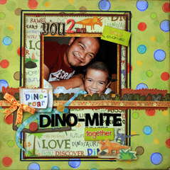 YOU 2 ARE DINO-MITE TOGETHER- ARTFUL DELIGHT SKETCH #8