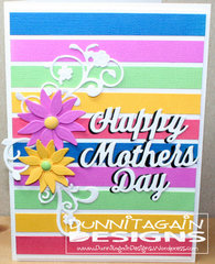 Colorful Mother's Day card