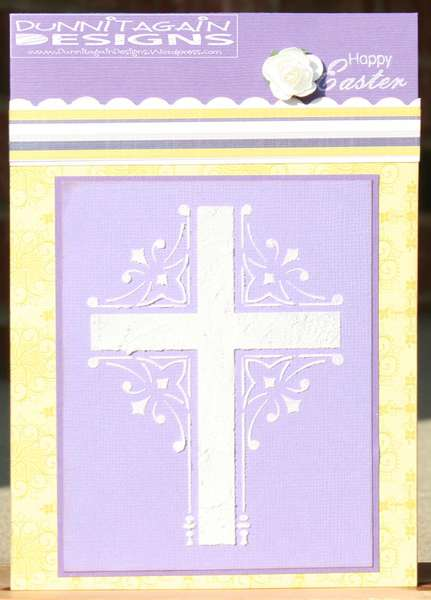 Cross paste embossed card