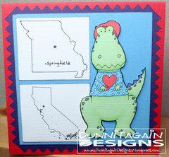 Dino traveling Valentine's