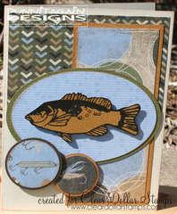 Masculine Fish Card