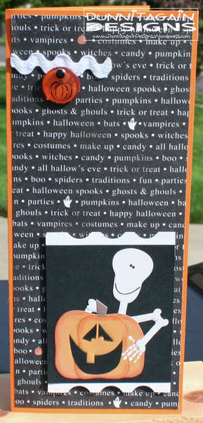 Halloween Sticker Card