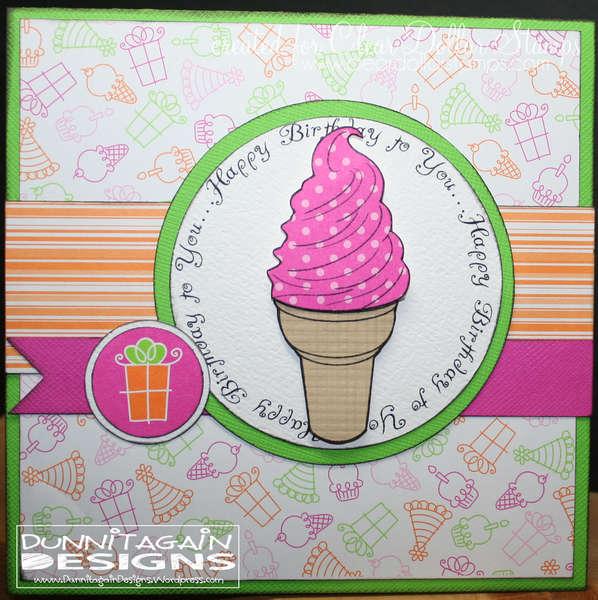Happy Birthday Ice Cream Cone