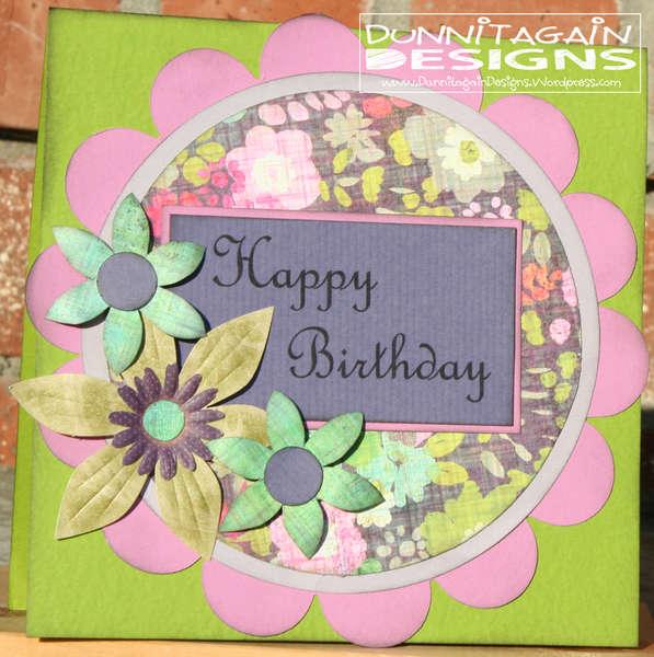 Happy Birthday (circle card)