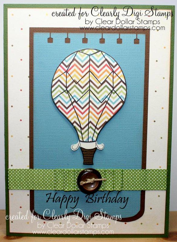 Hot Air Balloon - Happy Birthday