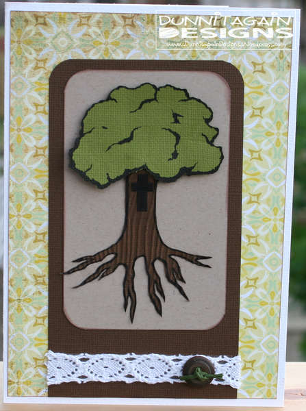Tree wedding card