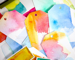 Lesson 1 - How to Create Your Own Artistic Watercolor Gift Tags