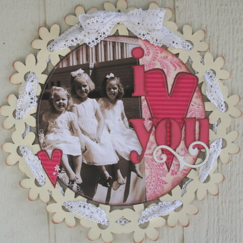 I Love You--Altered Placemat
