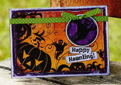 Happy Haunting Ghost card