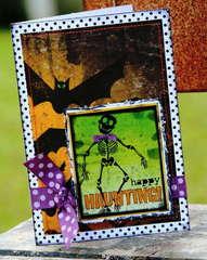 Happy Haunting Skeleton card