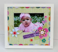 Hello Spring Altered Frame