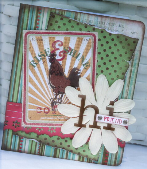 Hi Friend Rooster card