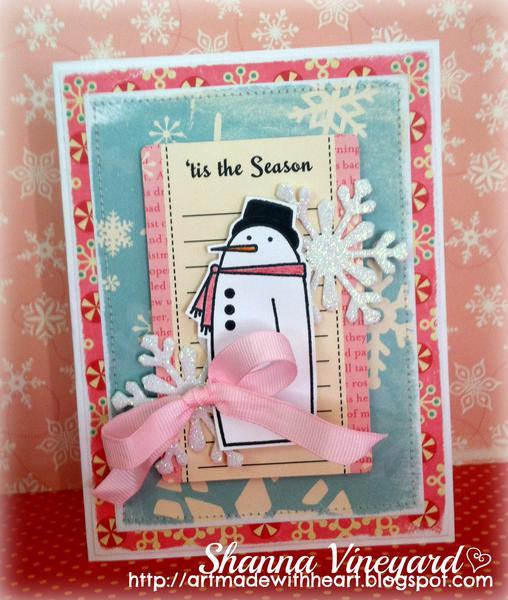 Tis the Season Snowman card