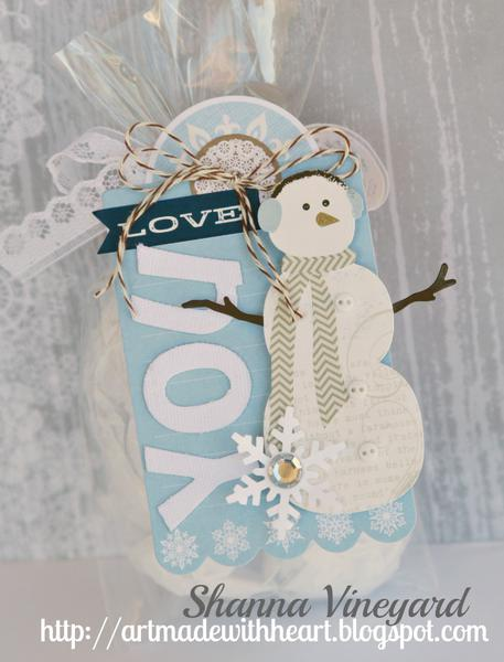 Love You Snowman tag