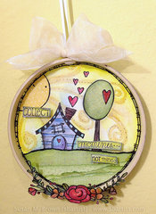 Collect Moments... not things Altered Embroidery hoop