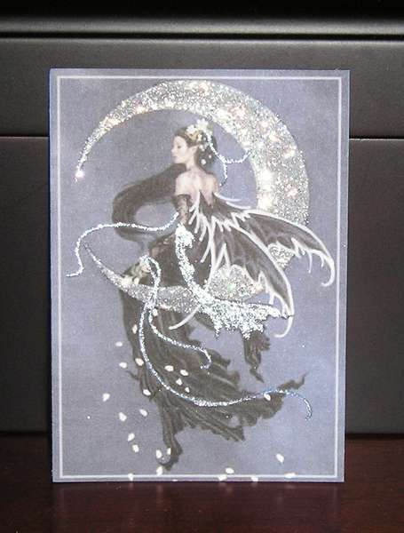 Moonlit Elegance - Dark & Striking Faery ATC