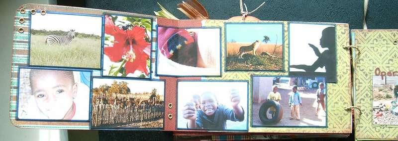 Heather's Book {pg12 - Beautiful Zimbabwe} left page detail