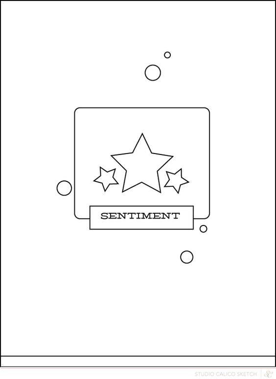December 2018 Card Sketch Challenge - Sketch #4