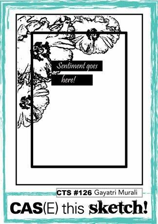 April Card Sketch Challenge - Sketch #3