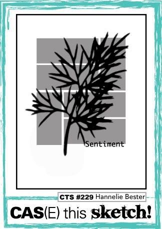 December 2018 Card Sketch Challenge - Sketch #3