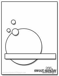 April Card Sketch Challenge - Sketch #1