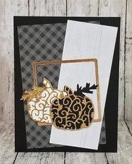 Elegant Pumpkin Card