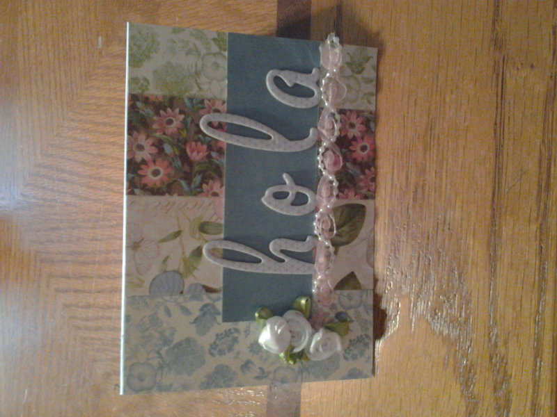 Card using Botanical Tea papers