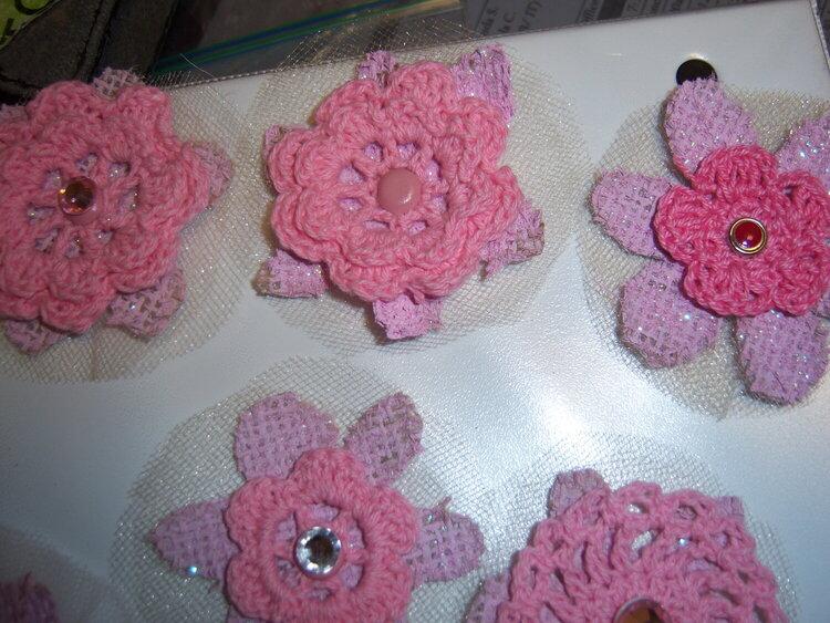 February Pink Flowers Swap