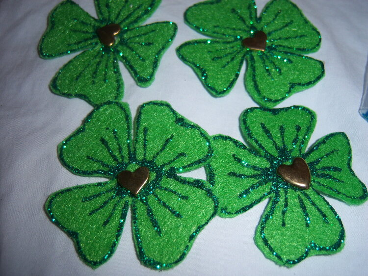 March Green Flowers Swap