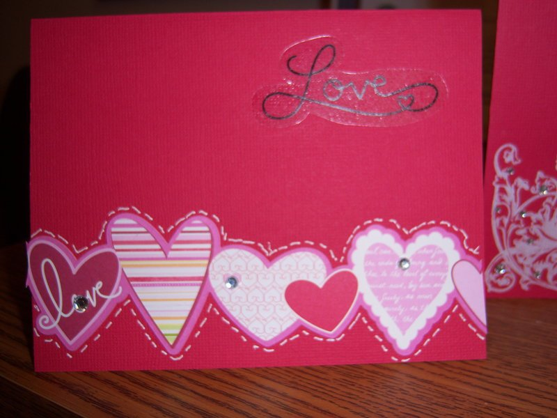 Simple Valentine's Day cards for our small Women' Group