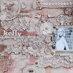 Kelly-7 Dots Mixed media