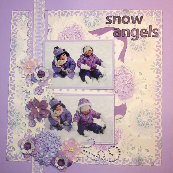 Snow Angels-Scrap That January Sketch Challenge