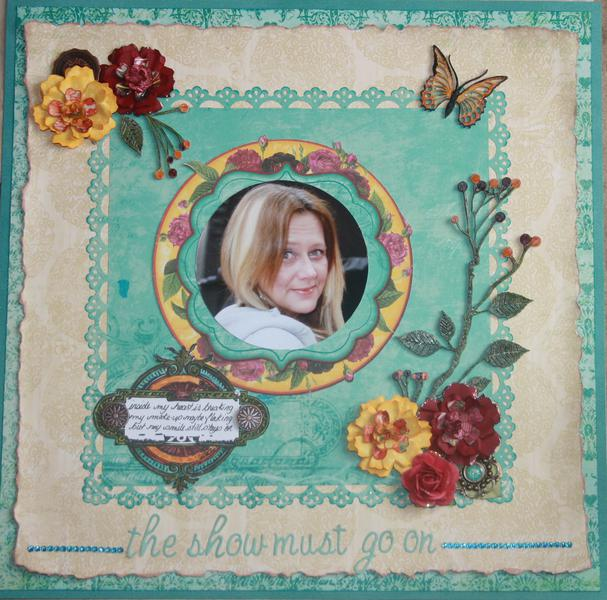 The Show Must Go On-Bo Bunny January Challenge/ScrapThat Challenge