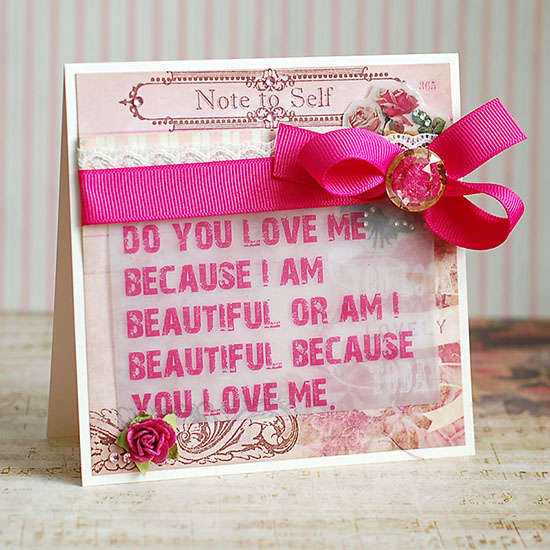 Do You Love Me card by Lea Lawson