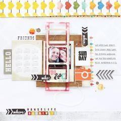 Hello by Janna Werner featuring Color Me Happy by Glitz Design